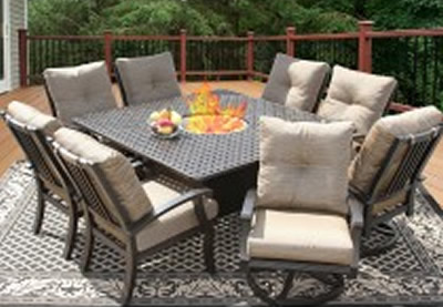 Square Patio Table 8 Chairs Glf Home Pros Dining And Seater