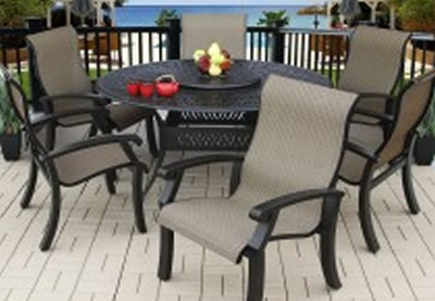 Round Outdoor Dining Sets For Sevenstonesinccom - 6 person round outdoor dining table